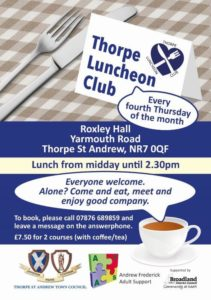 Thorpe Luncheon Club Leaflet