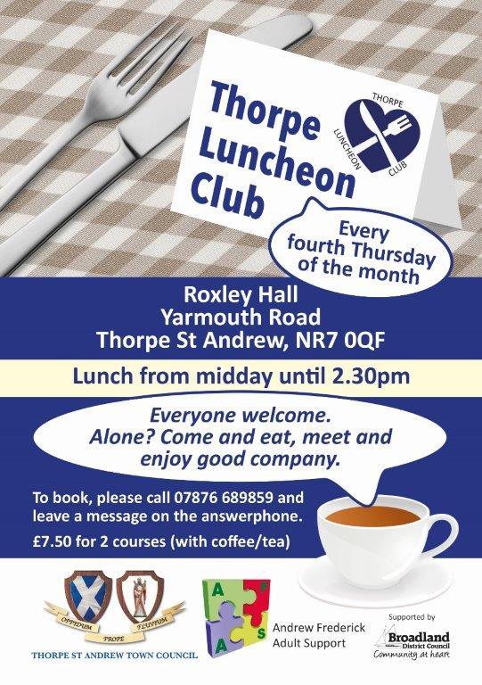 Thorpe Luncheon Club Leaflet